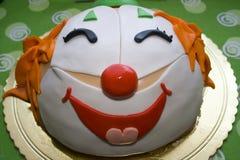 Gâteau de clown Photographie stock