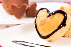 Gâteau de coeur Photos stock