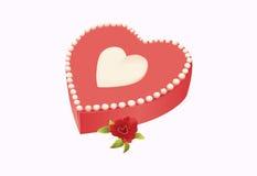 Gâteau de coeur Images libres de droits
