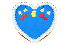 Gâteau de coeur de pain d'épice d'Oktoberfest avec l'espace de copie Photos stock