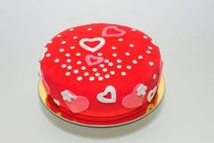 Gâteau de coeurs et de fleurs de valentines Photographie stock libre de droits