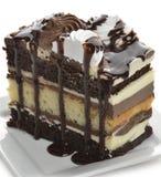 Gâteau de couche de chocolat Photos libres de droits