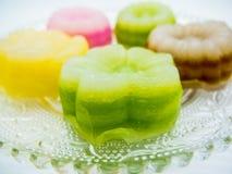 Gâteau de couche thaïlandais (Kanom Chan) images libres de droits