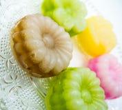 Gâteau de couche thaïlandais (Kanom Chan) image stock
