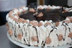 Gâteau de crème à fouetter image libre de droits