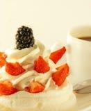 Gâteau de crème Photo stock