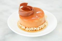 Gâteau de crème anglaise de caramel Images stock
