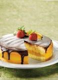 Gâteau de crème de Boston Images libres de droits