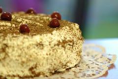Gâteau de crème de cerise Photographie stock