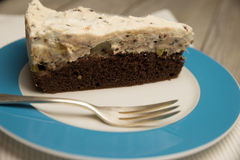 Gâteau de crème de chocolat Photos libres de droits