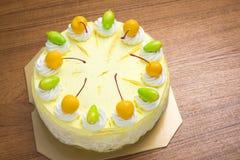 Gâteau de crème glacée de mangue Photographie stock