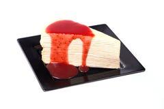 Gâteau de crêpe Photo libre de droits