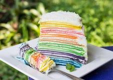 Gâteau de crêpe Image stock