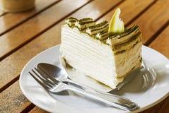 Gâteau de crêpe Photos libres de droits