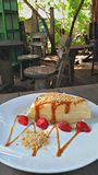 Gâteau de crêpe Images libres de droits