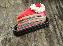 Gâteau de crêpe Photographie stock libre de droits