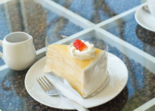 Gâteau de crêpe Image libre de droits