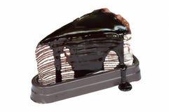 Gâteau de crêpe de chocolat Photos stock