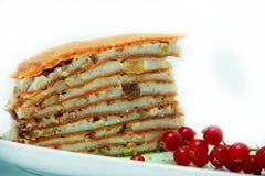 Gâteau de crêpe de mandarine Photos stock