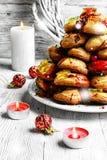 Gâteau de croquembouche de Noël Photos stock