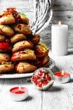 Gâteau de croquembouche de Noël Images stock