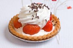 Gâteau de cuvette de fraise Images stock