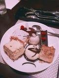 Gâteau de désert photographie stock libre de droits