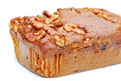 Gâteau de datte et de noix Photographie stock libre de droits