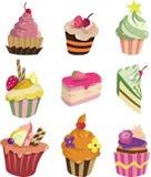 Gâteau de dessin animé Image libre de droits