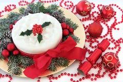 Gâteau de fête de Noël photos libres de droits