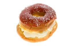 Gâteau de feuilleté avec de la crème Image stock