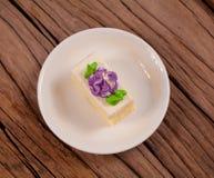 Gâteau de fleur Image libre de droits