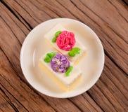 Gâteau de fleur Images stock