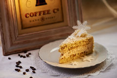 Gâteau de flocon de neige Photographie stock