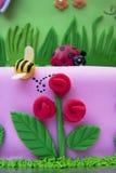 Gâteau de fondant Photographie stock