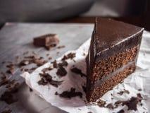 Gâteau de fondant de chocolat, foyer sélectif Images libres de droits