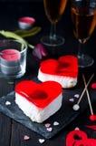 Gâteau de fondant pour le jour de valentines Photographie stock libre de droits