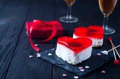 Gâteau de fondant pour le jour de valentines Image libre de droits