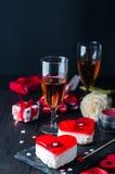 Gâteau de fondant pour le jour de valentines Image stock