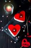 Gâteau de fondant pour le jour de valentines Photo libre de droits