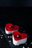 Gâteau de fondant pour le jour de valentines Photos libres de droits