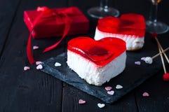 Gâteau de fondant pour le jour de valentines Images libres de droits