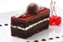 Gâteau de forêt noire Image libre de droits