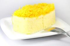 Gâteau de Foythong, gâteau de fil de jaunes d'oeuf d'or Image stock