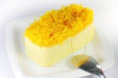 Gâteau de Foythong, gâteau de fil de jaunes d'oeuf d'or Image libre de droits