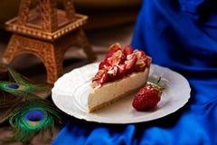 Gâteau de fraise Photographie stock