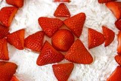 Gâteau de fraise Photo stock