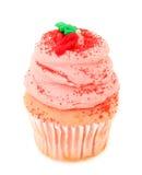 Gâteau de fraise d'isolement sur le blanc Photo libre de droits