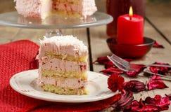 Gâteau de fraise de couche Images libres de droits