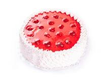 Gâteau de fraise sur le blanc Images libres de droits